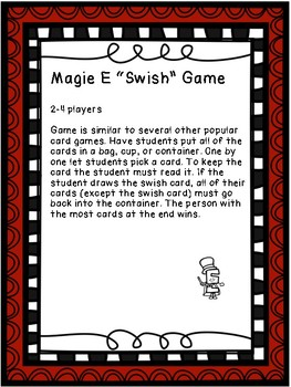 Sight Word Basketball Card Game