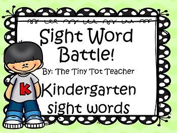 Sight Word Battle!
