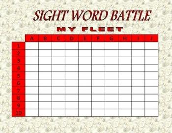 Sight Word Battle