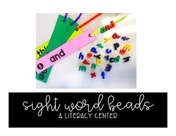 Sight Word Beads: A Literacy Center