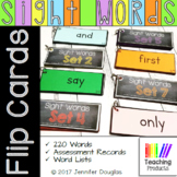 Sight Word Flash Cards with Assessment Record