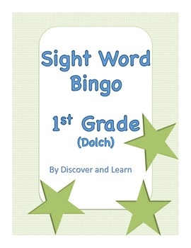 Sight Word Bingo: 1st grade (Dolch)