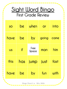 Sight Word Bingo