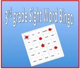 Sight Word Bingo - 3rd grade sight words