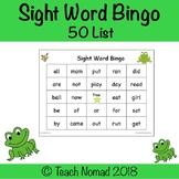 Sight Word Bingo (50 Word List)