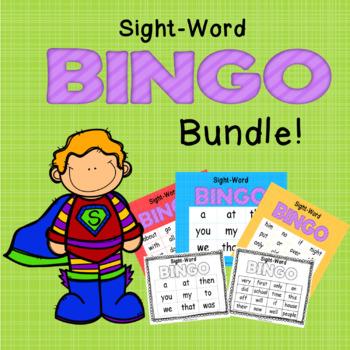 Sight-Word Bingo BUNDLE- Sets 1-3 BTSdownunder