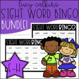 Sight Word Bingo Bundle - Lucy Calkins High Frequency List E-H