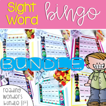 Sight Word Bingo Bundle for Reading Wonders 1st grade {Sma