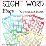 Sight Word Bingo Cards Pre Primer and Primer Activities