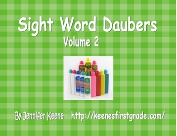 Sight Word Bingo Daubers Vol. 2