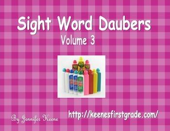 Sight Word Bingo Daubers Vol. 3