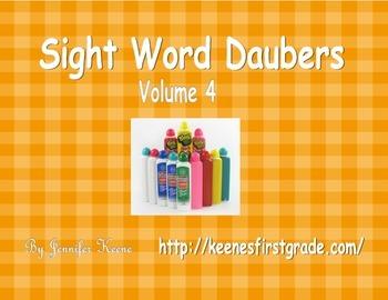 Sight Word Bingo Daubers Vol. 4