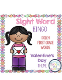 Sight Word Bingo {Dolch First Grade} Valentine's Day Theme