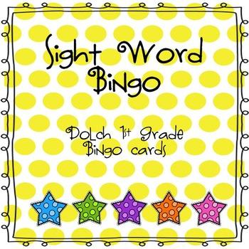 Sight Word Bingo (Dolch 1st Grade)