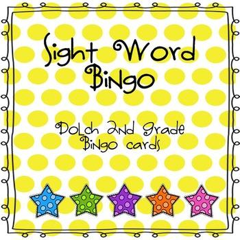 Sight Word Bingo (Dolch 2nd Grade)