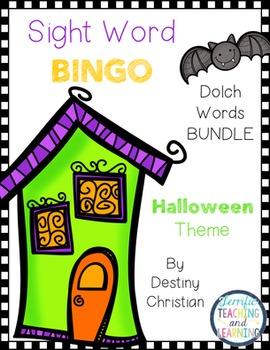 Sight Word Bingo {Dolch Bundle} Halloween Theme