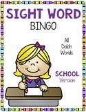 Sight Word Bingo {Dolch Bundle} School Theme