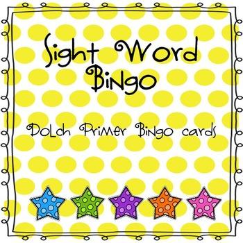 Sight Word Bingo (Dolch Primer)