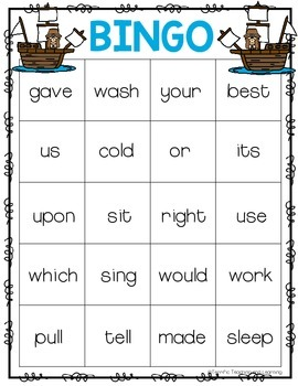 Sight Word Bingo {Dolch Second Grade} Thanksgiving Theme