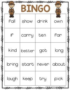 Sight Word Bingo {Dolch Third Grade} Thanksgiving Theme