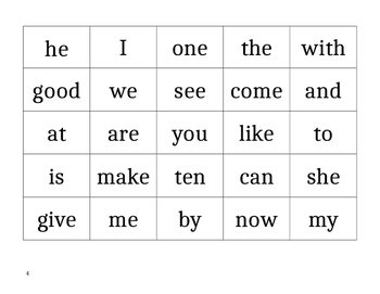 Sight Word Bingo! EDITABLE