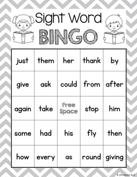 Sight Word Bingo - First Grade