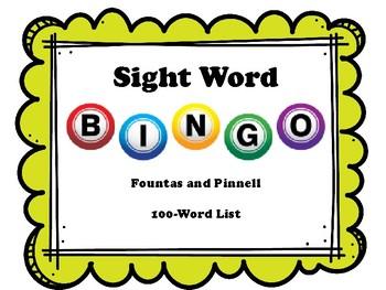 Sight Word Bingo - Fountas and Pinnell 100-Word List