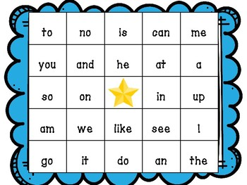 Sight Word Bingo!  (Fountas and Pinnell 25 word list)