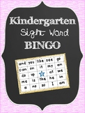 Sight Word Bingo - Kindergarten Words