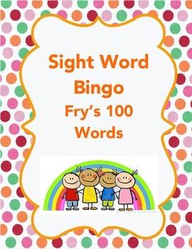 Sight Word Bingo (Fry's 1st 100 Words)