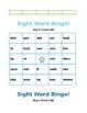 Sight Word Bingo (Fry's First 100 Words) EDITABLE
