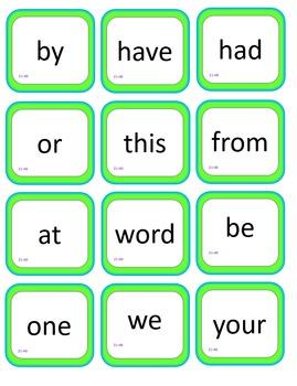 Sight Word Bingo - Fry's Instant Words 21-40