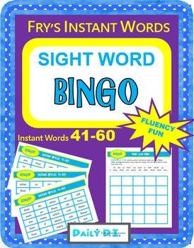 Sight Word Bingo - Fry's Instant Words 41-60