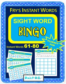 Sight Word Bingo - Fry's Instant Words 61-80