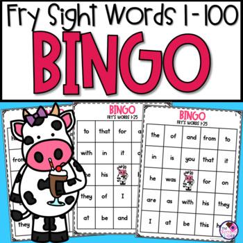 Fry's First 100 Words Bingo