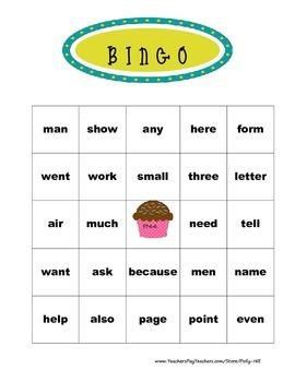 Sight Word Bingo:  Fry's List Words 101-200