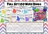 Sight Word Bingo Game Bundle **100 Most Common Words**