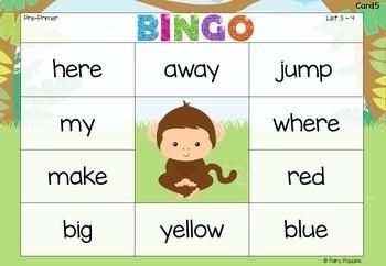 Sight Word Bingo Games (Dolch Words) - 11 Fun Designs!