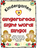 Sight Word Bingo - Gingerbread Sight Word Bingo Game
