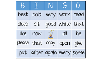 Sight Word Bingo: If You Give a Mouse a Cookie