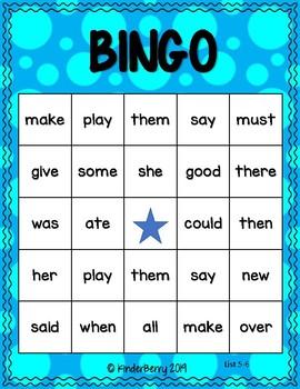Sight Word Bingo (Journey's List 5-6)