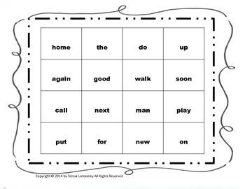 Sight Words  Bingo Game K-2 {Common Core Aligned}