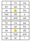 Sight Word Bingo - Kindergarten