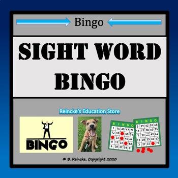 Sight Word Bingo (Kindergarten)