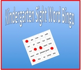 Sight Word Bingo - Kindergarten Dolch sight words