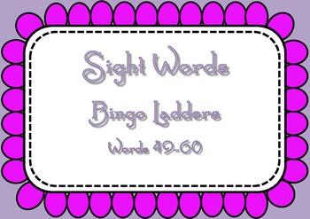 Sight Word Bingo Ladders - words 49-60