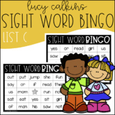 Sight Word Bingo - Lucy Calkins High Frequency List C