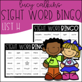 Sight Word Bingo - Lucy Calkins High Frequency List H
