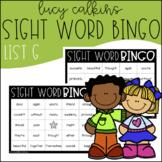 Sight Word Bingo - Lucy Calkins High Frequency List G