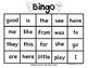 Sight Word Bingo Nat Geo Words Kindergarten
